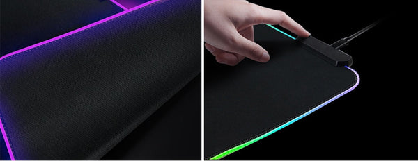 Large Gaming Mouse Pad Gamer RGB with LED Back-lit Mat Mouse Carpet Desk For CSGO Keyboard PC Pad