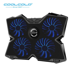 Laptop Cooling Pad Notebook Gaming Cooler Stand with Four Fan and 2 USB Ports for 14-17 inch Laptop