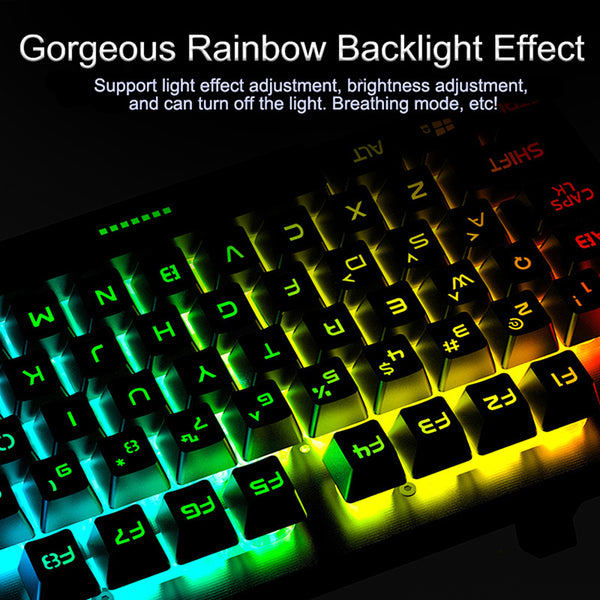 Back-lit Gaming Mechanical Wired 104 keys RGB LED USB Keyboard Gamer Key-caps PC Laptop Keyboards
