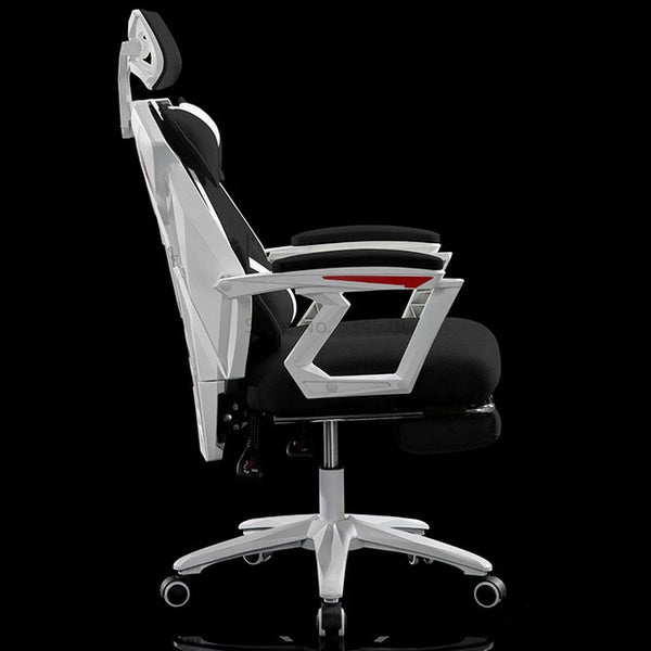 Mesh Seat Office Gamer Chair Seat Furniture Synthetic Leather Mesh Chair Rotatable With Handrails