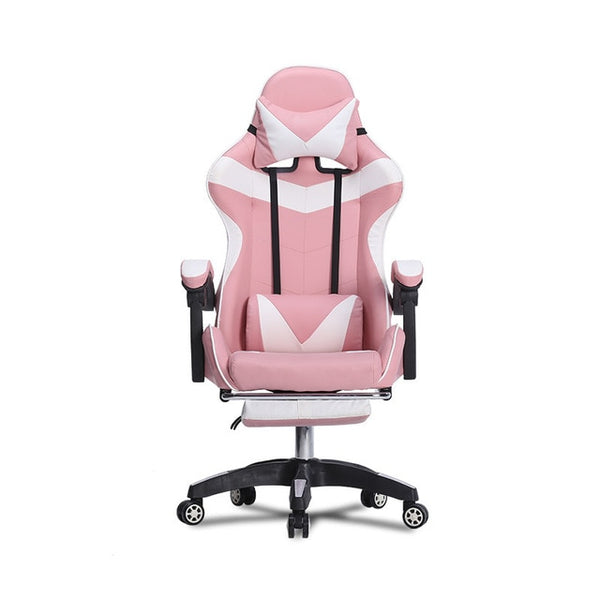 Furniture Office Chair High Back Gaming Chair Recliner PU Leather Seat Office Armchair with Footrest
