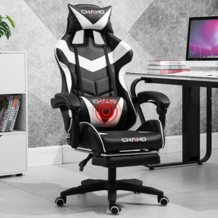 Gaming Chair Leather High Back Racing Style Gamer Chair Ergonomic Swivel Bucket with Lumbar