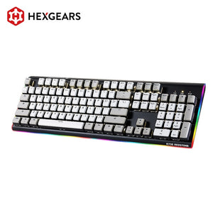 HEXGEARS Hot Swap Switch Mechanical Keyboard 104 Key Waterproof Gaming Keyboard Key-caps RGB Side