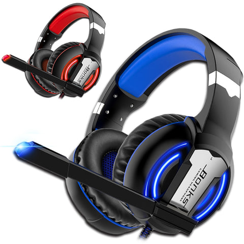 Gaming Headphones PS4 Headset Wired Game Bass Stereo Casque with Microphone For PC Laptop Gamer