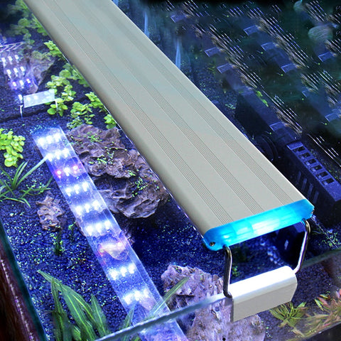 Aquarium LED Light Super Slim Fish Tank Aquatic Plant Grow Lighting Waterproof Bright Clip Lamp