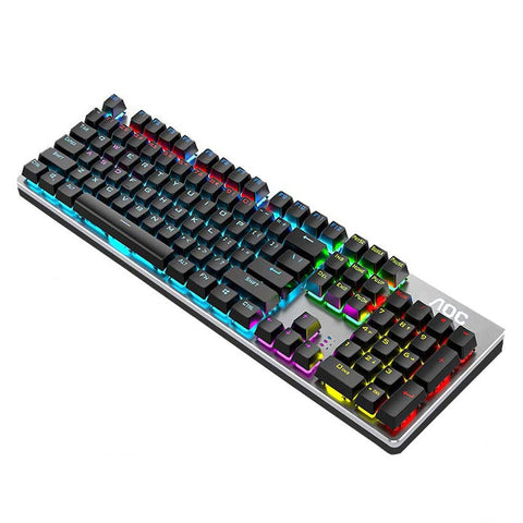 Mechanical 104 Keys Gaming Keyboard Blue Black Brown Red Switch Wired Keyboard For Laptop PC Gamer