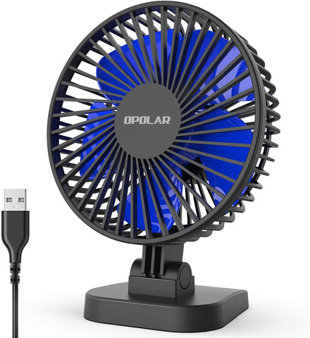 Mini USB Desk Fan Better Cooling Perfect with Strong Airflow Whisper Quiet Portable Fan 3 Speeds