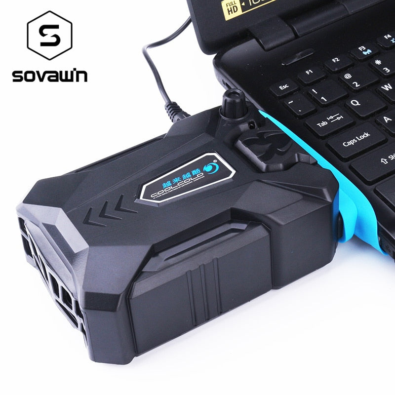 Vacuum Portable Laptop Cooler USB Air External Extracting Cooling Fan for Laptop Speed Adjustable
