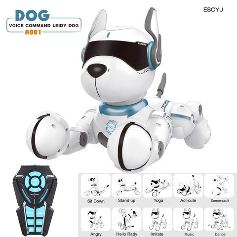 Smart Talking, Walk & Dance Interactive Pet Puppy Robot Dog with Remote Voice Control Intelligent