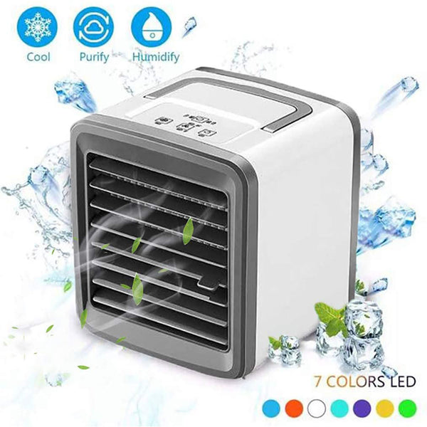 2020 Upgraded Air Conditioner Mini Cooling Fan Portable USB Rechargeable Fan Home Office Desktop