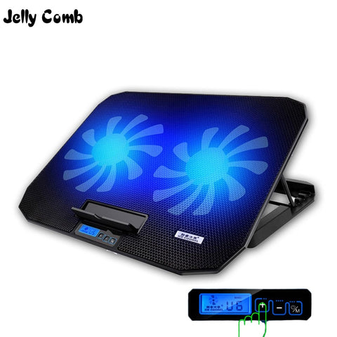 Gaming Laptop Cooler Adjustable Speed 2 USB Ports and 2 Cooling Fan with Laptop Stand for 12-17 inch