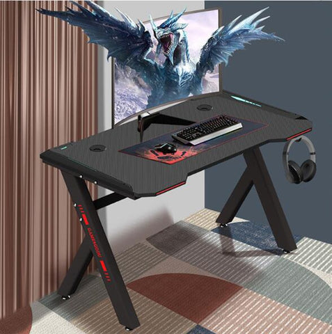 Desktop Computer Ergonomic Desk Simple Writing Desk Home Internet Cafe Cool Gaming Table 120*60cm