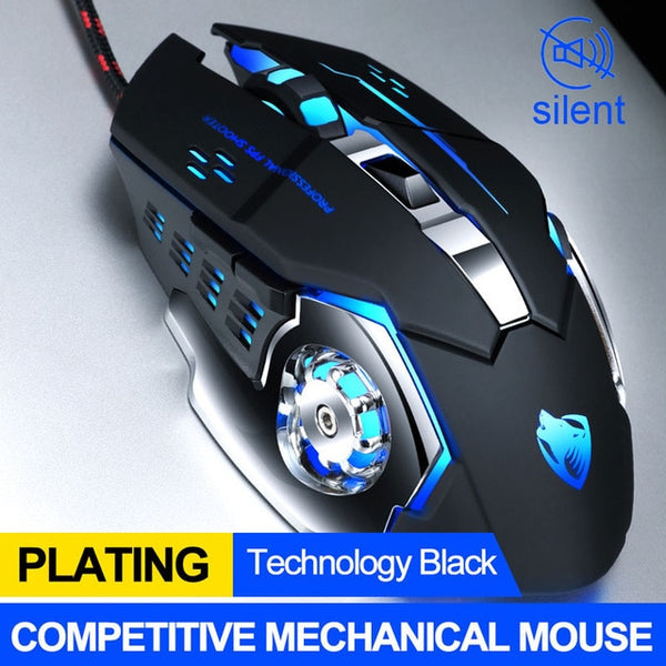 Pro Gamer Gaming Mouse Adjustable Wired Optical Computer Mice USB Cable Silent Mouse for Laptop PC
