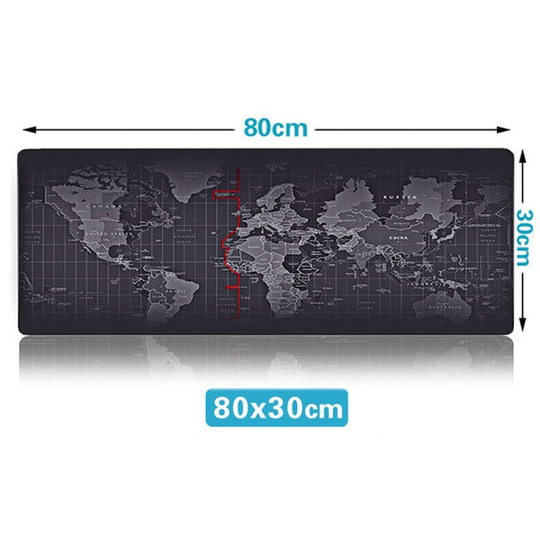 Hot Sell Extra Large Mouse Pad Old World Map Gaming Anti-slip Natural Rubber with Locking Edge