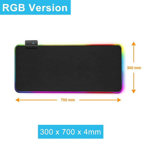 RGB Gaming Mouse Pad Gamer Led Computer Mouse Mat with Back-light Carpet For Keyboard Desk Mat Mouse