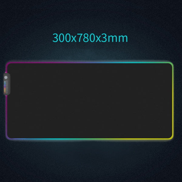 RGB Luminous Gaming Mouse Pad Colorful Glowing USB LED Extended Illuminated Non-slip Blanket Mats