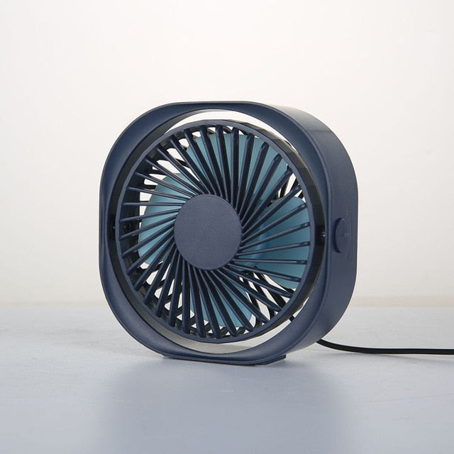 360° USB Cooler Cooling Mini Fan Portable 3 Speed Super Mute Cooler for Office or Home Laptop