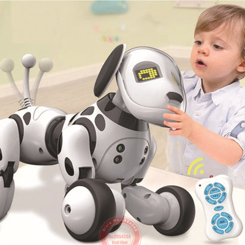 Programmable 2.4G Wireless Electronic Smart Animals Toy Robot Dog with Remote Control Toys for Kids