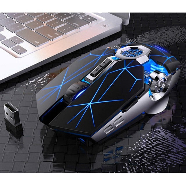 Rechargeable Wireless Silent Gaming Mouse LED Back-lit 2.4G USB Optical Ergonomic For PC Laptop