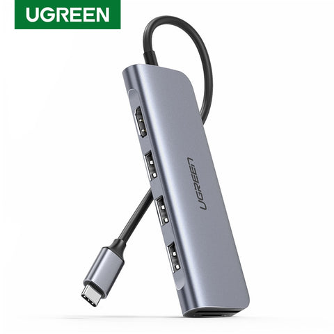 Ugreen Docking Station USB C to HDMI USB 3.0 Hub SD TF Dock Station for MacBook Pro Dell HP Lenovo Type C Laptop Docking Station