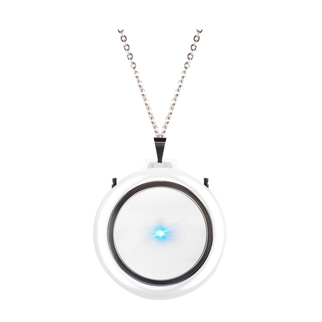 USB Portable Wearable Air Purifier Mini Necklace Negative Ion Air Freshener No Radiation Low Noise