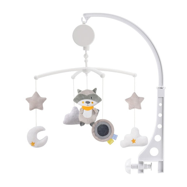 Cartoon Baby Crib Mobiles Rattles Music Educational Toys Bed Bell Carousel for Newborns Baby
