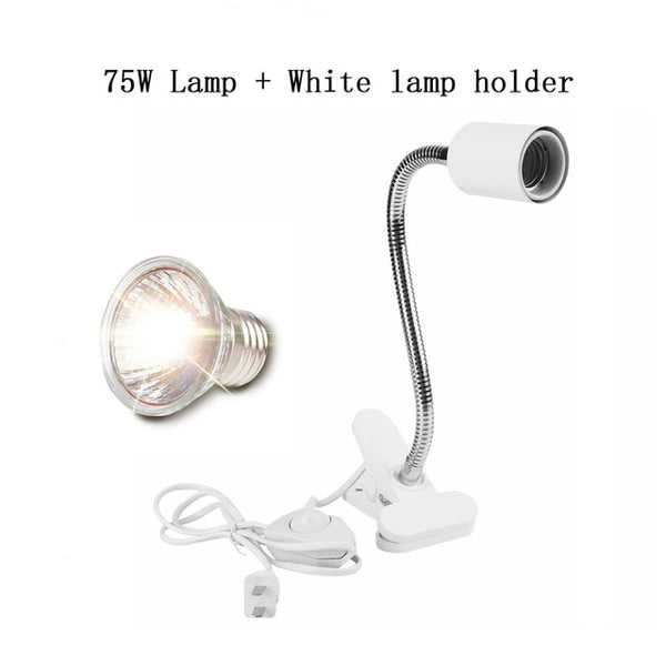 UVA+UVB 3.0 Reptile Lamp Set with Clip-on Bulb Lamp Holder Turtle Basking UV Heating Lamp Kit