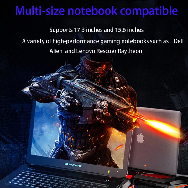 RGB Gaming Laptop Cooler Adjustable Notebook stand 3000 RPM Powerful Air Flow Cooling Pad Laptop