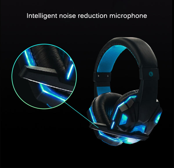 PC Gamer Headset And 3.5mm Computer Headphone with Microphone LED Light Stereo Headset Gamer For PC