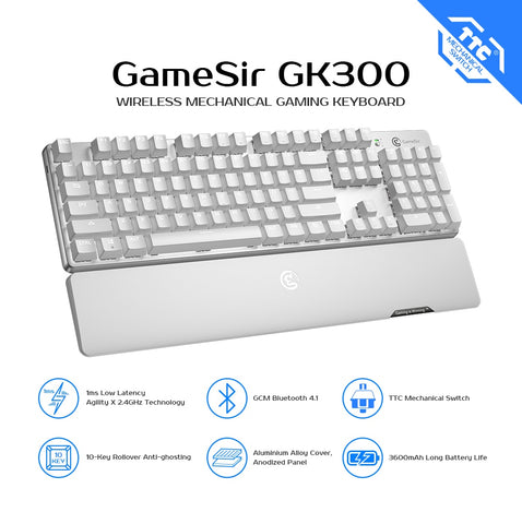 Mechanical Keyboard Wireless Gaming Keyboard 104 TTC Red Blue Switches with FPS Games For PC Laptop