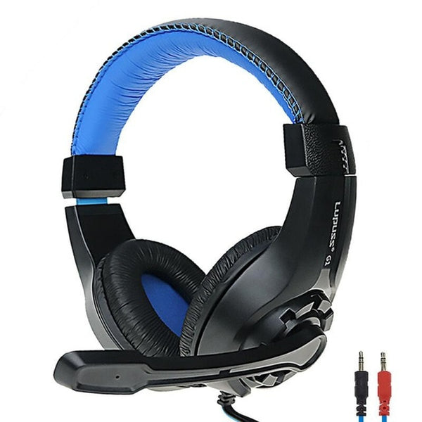 3.5mm Wired Stereo Headphones Interface Head-mounted Gaming Headset for Laptop or Computer PC