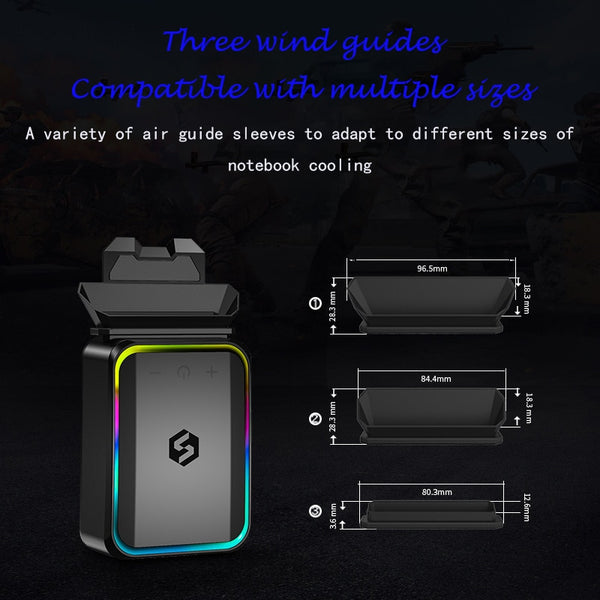 New Vacuum Portable Notebook Laptop Cooler Speed Adjustable USB Air External Extracting Cooling Fan