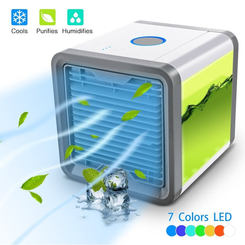 Small Air Conditioner Cooler Arctic Air Personal Space Cooler for Cool Fan Device Home Office Desk