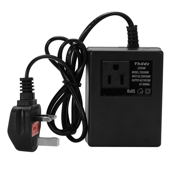 Intelligent Efficient UK Plug Power Adapter Transformer Voltage Converter For Travel/Household