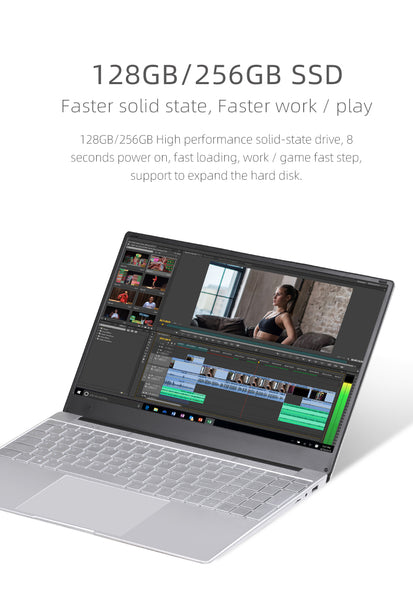 Celeron 15.6 inch Windows 10 1920*1080 Metal Glass Laptop 8GB RAM 128GB/256GB/512GB/1TB Notebook