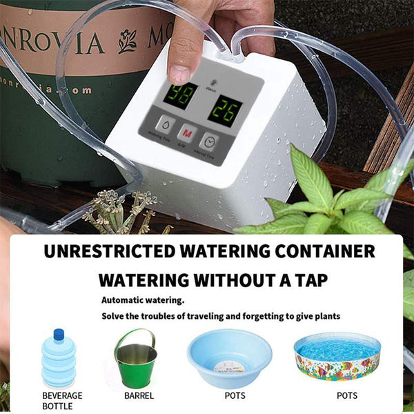 LED Smart Watering Controller Auto Indoor Garden Pump Drip Irrigation Potted Plant Timer Greenhouse