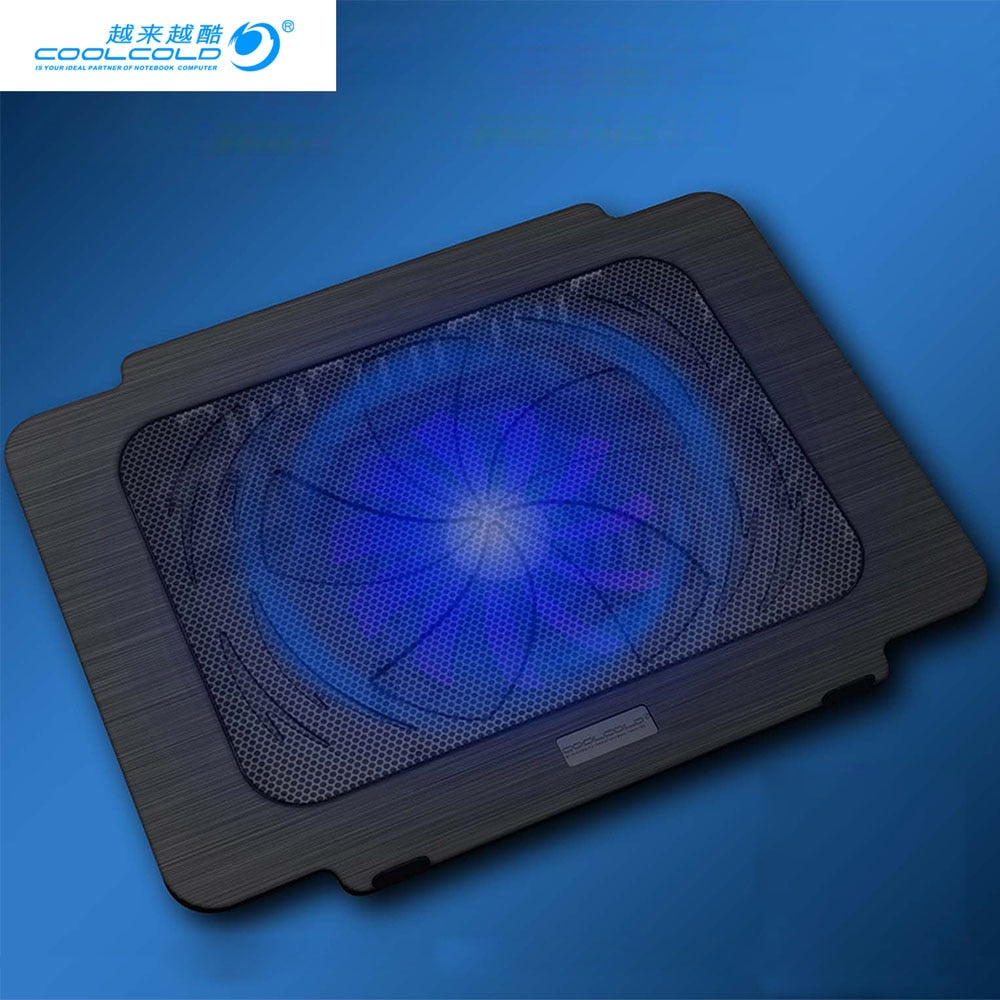 COOLCOLD Laptop Cooling Pad Laptop cooler USB Fan Light Notebook Stand Slide-Proof Stand Cooler