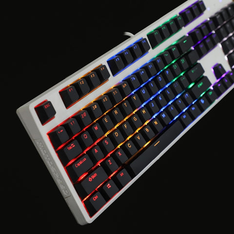 Double Shot 108 Top Print Shine Through Translucent Back-lit Key-cap For MX Mechanical Keyboard