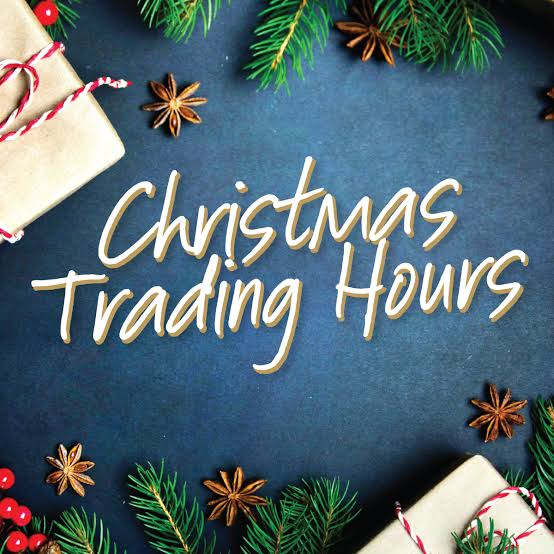 Christmas / New Year Trading Period & Shipping Information