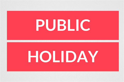 23/10/2020 Closed for Vic Public Holiday