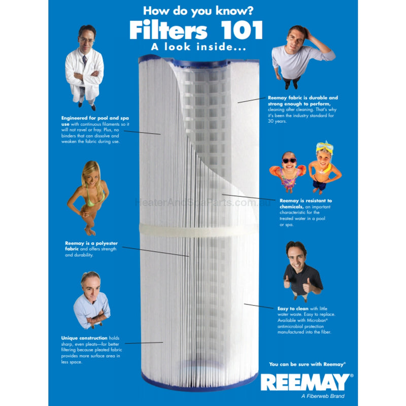 750mm x 185mm Waterco Trimline - CC100 - Replacement Filter Cartridge - Heater and Spa Parts