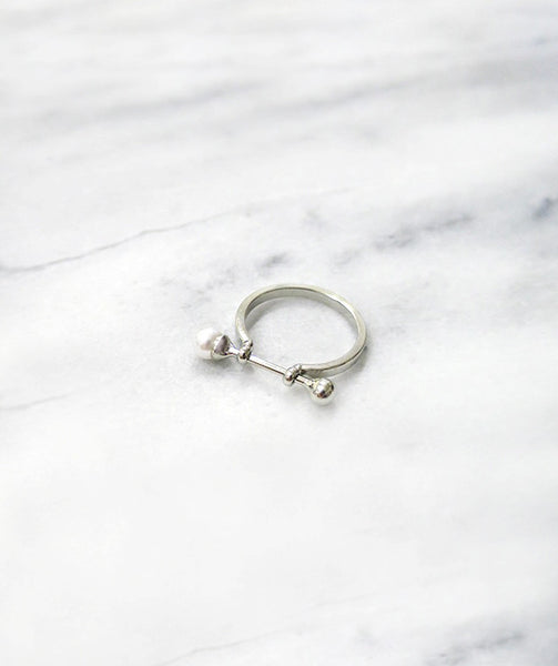 The Minimalist Pearl Silver Ring