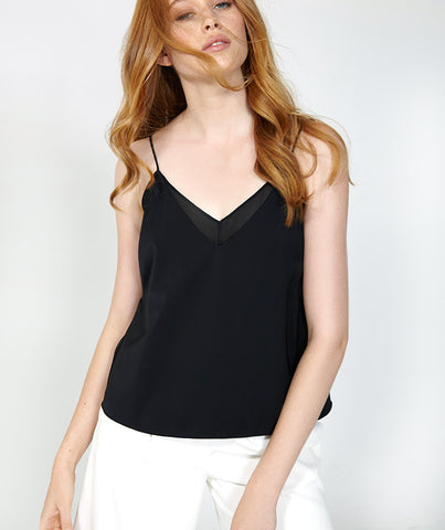 Black Sheer Panel Cami