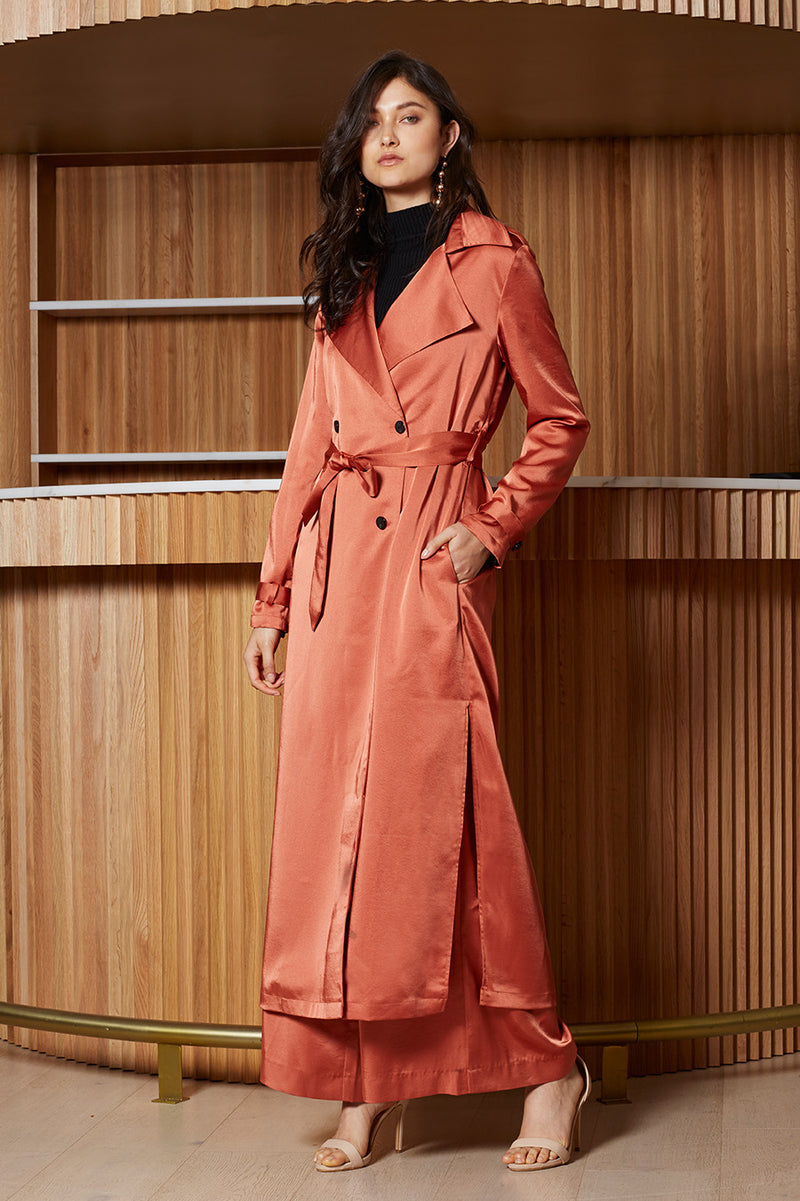 Veronika Twist Trench Coat
