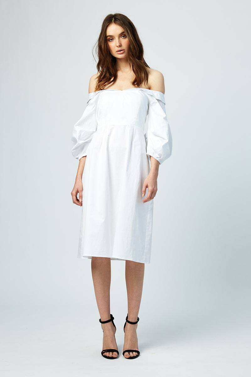 Blanche Off Shoulder Shirt Dress