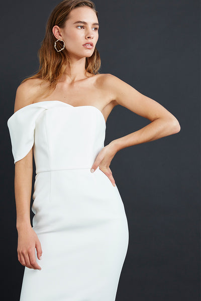 James Harriet One Shoulder Dress