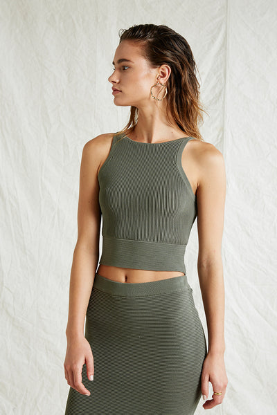 Andrea Crop Knit Top