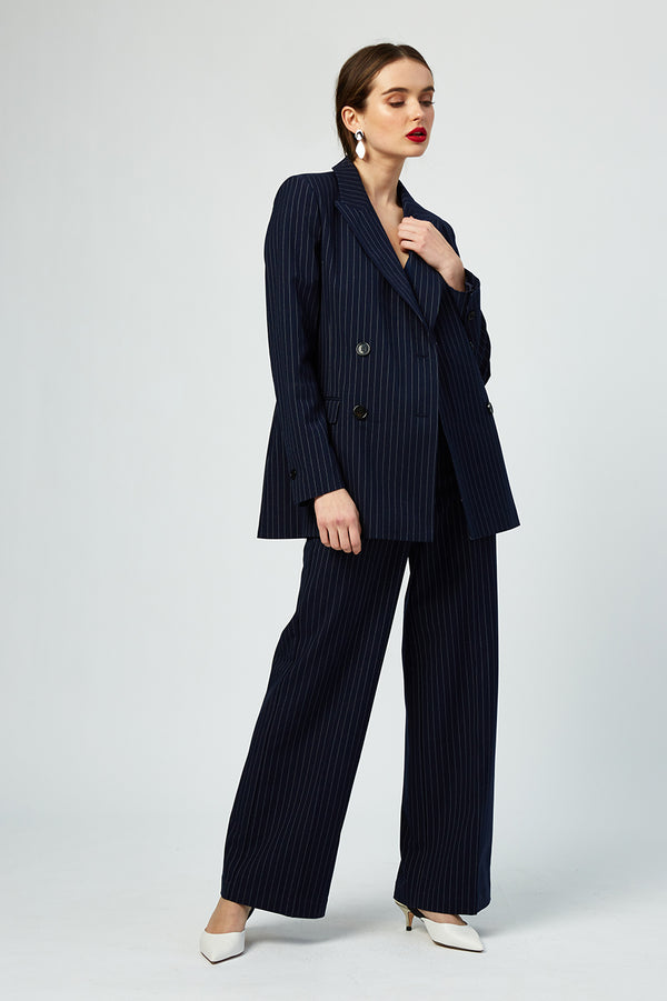 Cecile Striped Wide Leg Pants