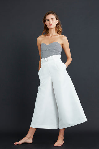 Friend of Audrey Elaine Wide Leg Pants White