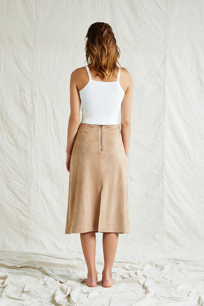 June Suede Skirt